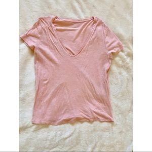Millennial Pink V-Neck Shirt